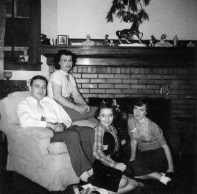 Ed, Ruby, Carol & Sharon, c. early 1950s