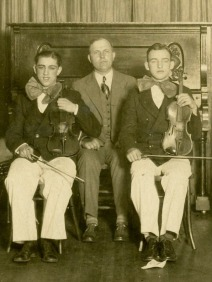 Edward (right) in the orchestra, c. early 1920s