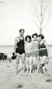 Evelyn (2nd from left) and friends, c. early 1930s