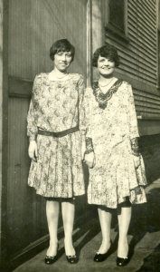 Evelyn (right) and friend, c. 1929
