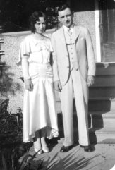Ed and Ruby's wedding, June 21, 1930