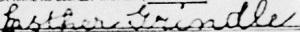 Esther's signature, 1956