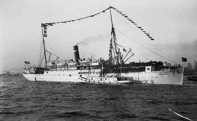 The 5th Infantry, Company K, including Edward, boarded the U.S. Army Transport Kilpatrick (above) in Manila in June 1903 for the return voyage to the United States.