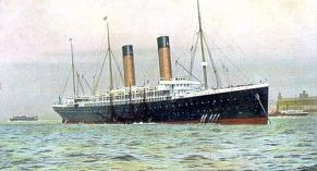 R.M.S. Oceanic, Arthur's transport to America