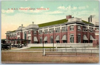 CB&Q Passenger Station, Galesburg, Illinois, c. 1910