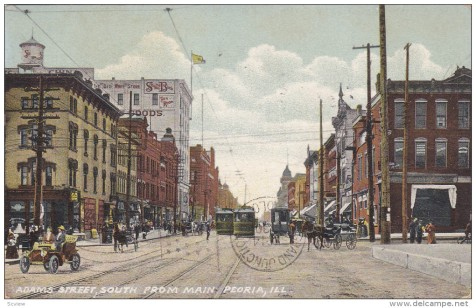 Downtown Peoria, c. 1910