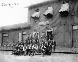 CB&Q Freight Office, 1904 (around the time Finis worked there). He may even be in this photo!