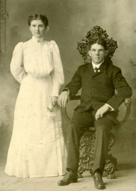 Edythe and Finis' wedding portrait, c. October 1905
