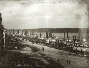 Steamboats at the St. Louis levee, 1852