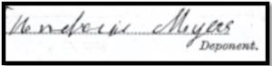 Andrew's signature, 1901