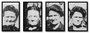 Four of Caroline's daughters (from left, Minnie, Lillie, Emma, and Josephine).