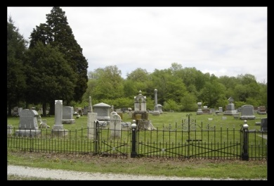 Caroline and little Josephine are the only two Herpsts buried in the Ware's Grove cemetery. No stones have been located for either, but the Herpst plots are located in the first row, directly behind the gate.