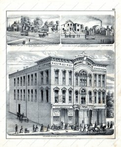 Historic scenes from Jacksonville, published in Morgan County 1872 (Andreas, Lyter and Co.).