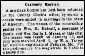The [Bloomington, Illinois] Pantagraph, Monday, May 12, 1884.