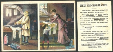 A trade card for Firmenich Manufacturing Company. Two of Mrs. Mehl's children worked at Firmenich, a short walk from their residence at 1910 S. Adams.